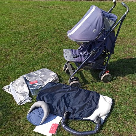 Wózek spacerówka maclaren techno xlr + dużo dodatków, wyprany