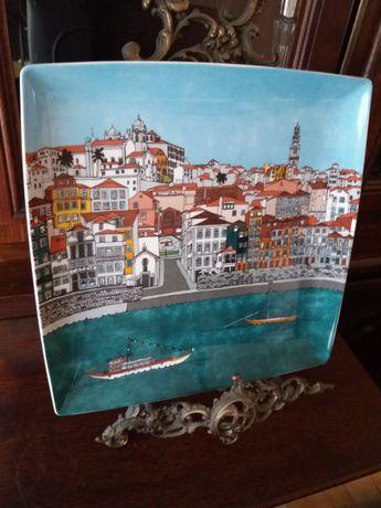 Prato marcador Alma do Porto e Alma de Coimbra da Vista Alegre