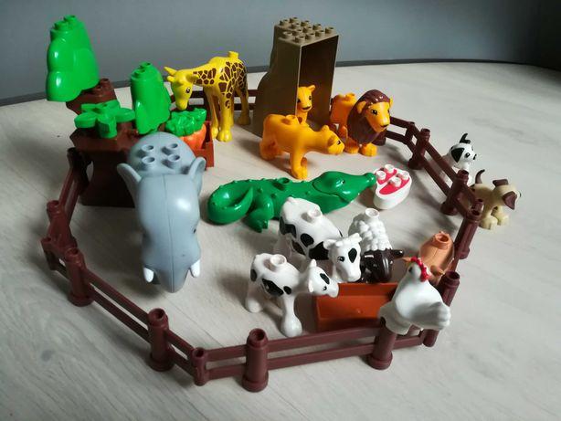 Klocki lego Duplo zwierzęta 13 sztuk