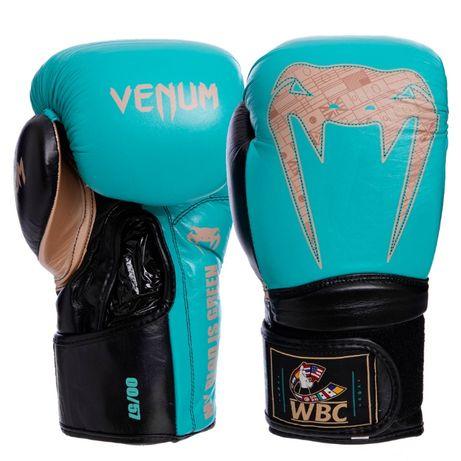 Перчатки боксерские кожаные на липучке VENUM Giant