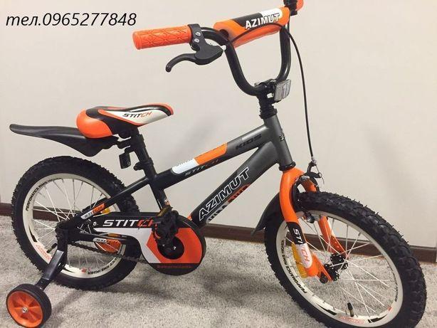 Дитячий велосипед Azimut Stitch/Mustang Tachki