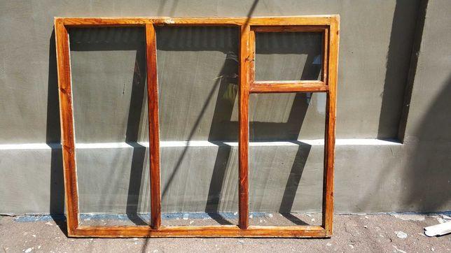 Окно деревянное, сосна