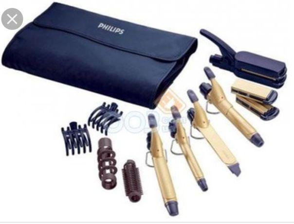 Мультистайлер Philips,набор плоек, выпрямитель,щипцы для волос, утюжок