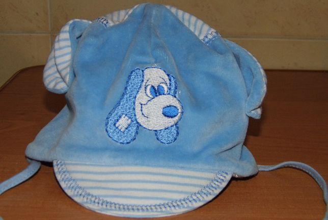Nowa czapka dla chłopca niemowlaka 0-2m-ce, wysyłka 1zl