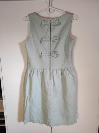 Sukienka Mohito miętowa kokardy 38 M wizytowa