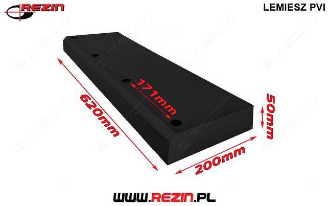 Lemiesz gumowy P6 620mm / 200mm / 50mm REZIN POLSKA