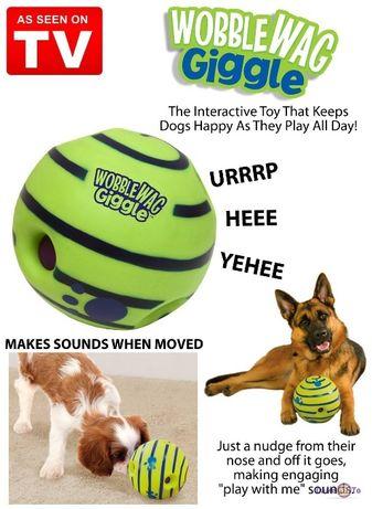 Игрушка для собак мяч хихикающий - WOBBLE WAG GIGGLE