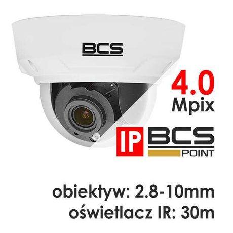 Kamera kopułkowa IP, 4Mpx, 2.8-10mm, IR30m, microSD - BCS POINT