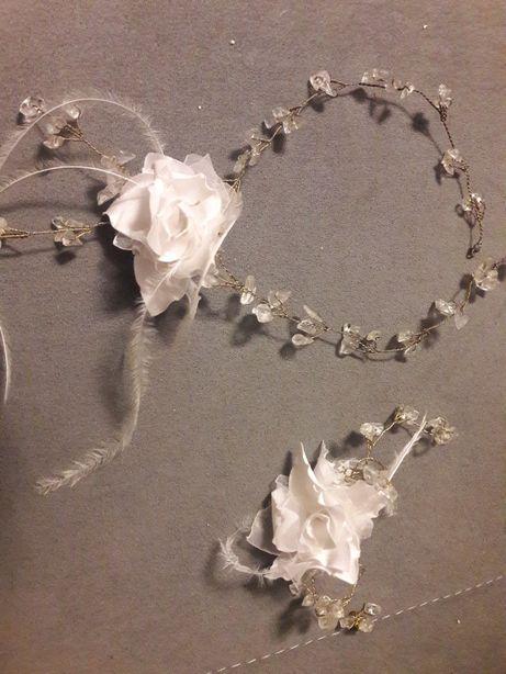 Biżuteria ślubna + rękawiczki