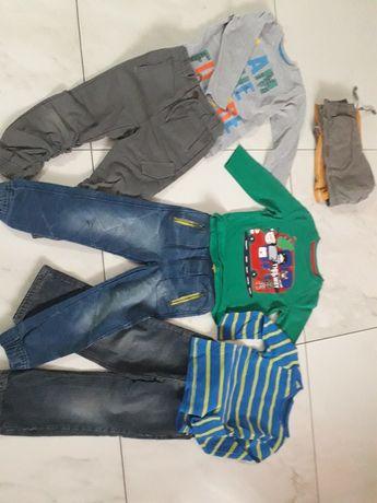 Spodnie i bluzki 104 -110