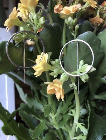 Серебрянные сережки-кольца