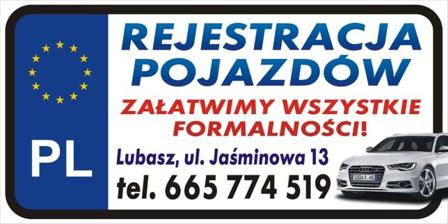 Rejestracja Pojazdów Czarnków Lubasz PCT w 1 Dzień