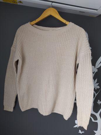 Sweter amisu złota nitka 38 M oversize