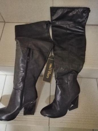 Buty kozaki stan nowe czarne
