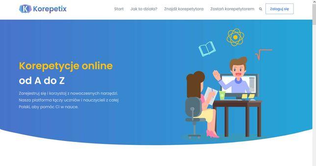Sprzedam serwis internetowy do korepetycji online