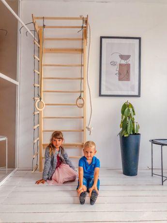 Детская шведская стенка РАСТИШКА. шведська стінка з канатним набором