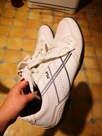 Skórzane biale buty Fila r 42 stan bdb sportowe adidasy