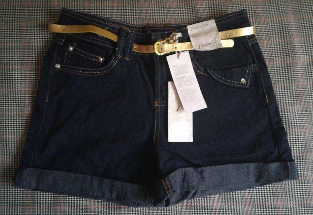 Шорти джинсові з пояском