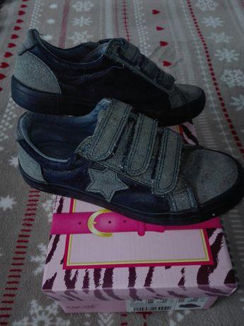 Buty sportowe dziewczęce na rzepy roz 34