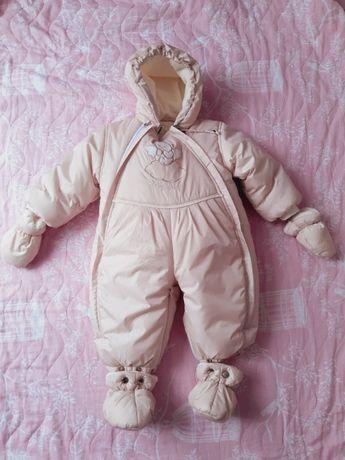 Зимняя детская куртка-конверт новый 74 размер