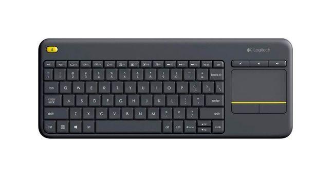 Беспроводная Клавиатура ТВ ПК Logitech K400 Plus Black RUS Русская