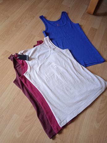 3 NOWE +1 używana r. M 38 bluzki topy koszulki podkoszulki
