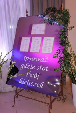 Tablica rozmieszczenia stołów slub wesele