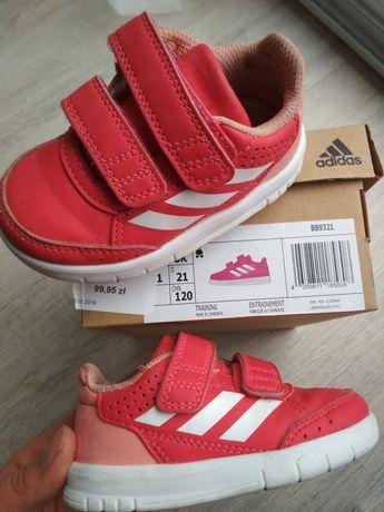 Adidas, buciki sportowe dziewczęce, rozmiar 20 bardzo dobry stan