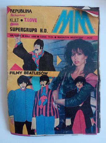 Magazyn Muzyczny maj 1986 Republika Kult T.Love KO