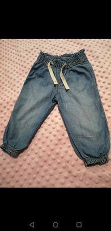 Spodnie jeansowe h&m r. 74