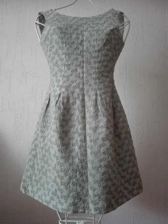Sukienka rozmiar M, kolor mięta, motyw kwiatowy