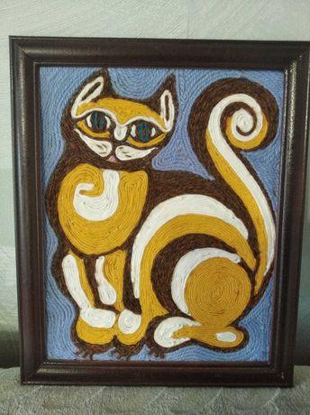 """Картина ручной работы """"Кот'"""