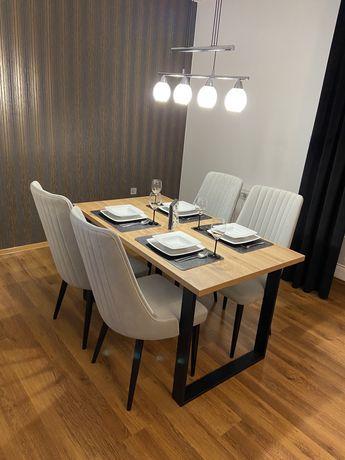 """Stół loftowy do jadalni """"KRIS"""" dąb wotan, 140x80"""