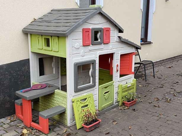 Детский домик и горка Smoby