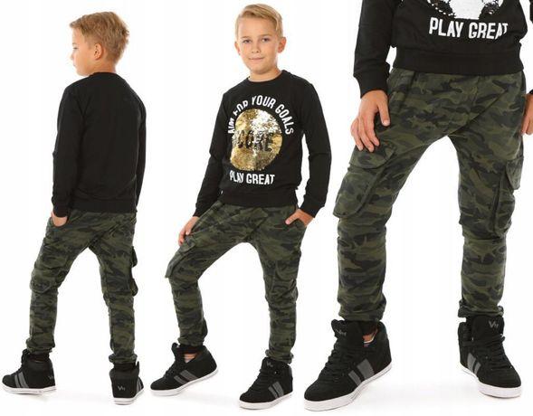 Spodnie baggy bojówki moro dla chłopca 146, 152, 158
