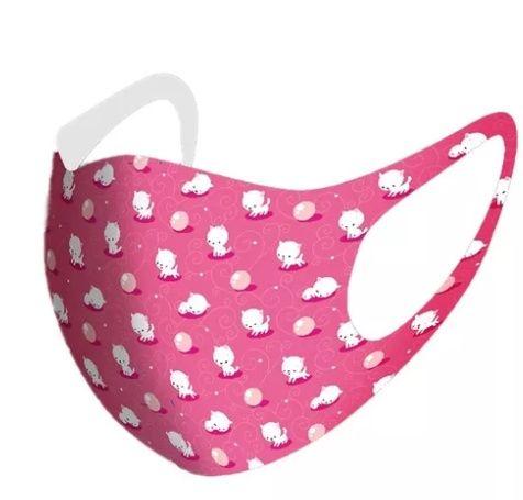 Maska maseczka ochronna kotki różowa