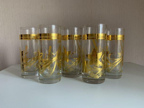 Стаканы с позолотой / Набор стаканов