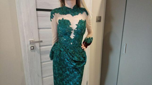 Piękna koronkowa sukienka,xxs xs must have