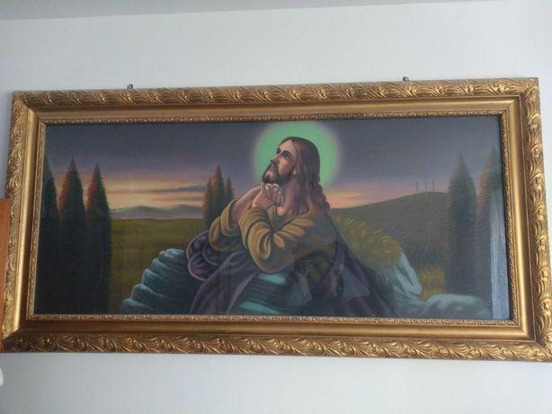 Obraz święty, religijny Modlący się Pan Jezus