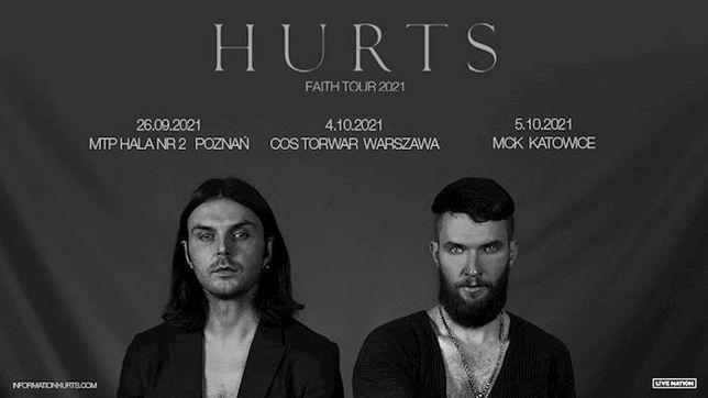 "Bilety na koncert ""Hurts"" Warszawa 04.10.2021 COS Torwar"
