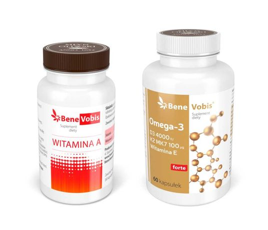 OMEGA-3 + ADEK Witamina A + Ω3 z witaminami DEK - 2 x 60 kaps.