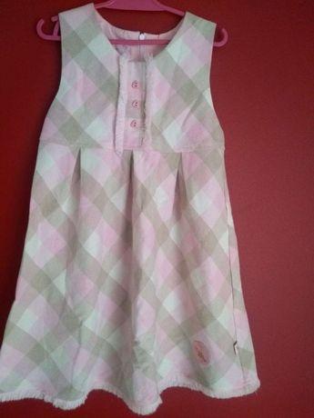 Jasna sukienka bez rękawów, roz. 116