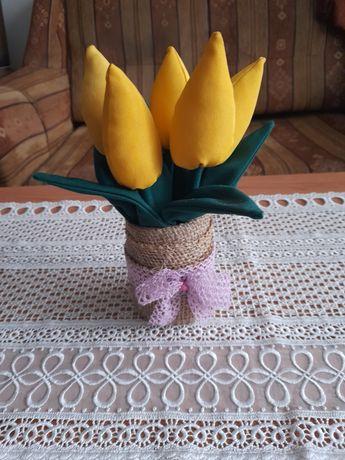 Tulipany ręcznie robione