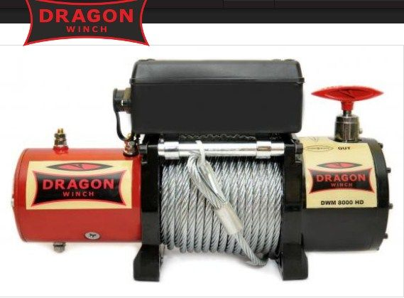 Лебедка электрическая Dragon Winch DWM 8000 HD на Ниву УАЗ жип лавета