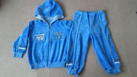 dres welurowy (bluza i spodnie) rozmiar 92