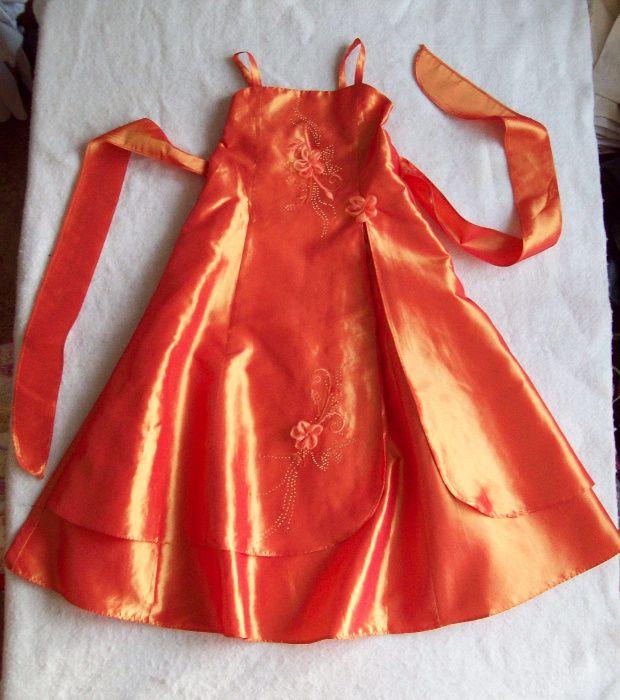 Платье нарядное тафта, длина 94 см.