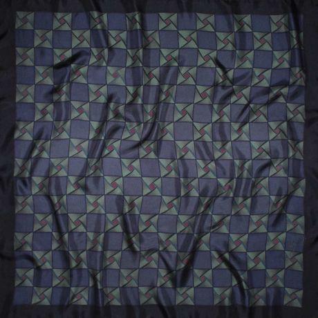 053 Шелковый батик - платочек ОРНАМЕНТ, ручная роспись