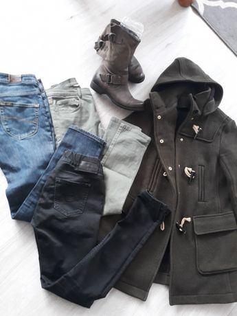 Ubrania kurtka Topshop ,jeansy,Lee,H&M,CROSS,buty SKÓRA!