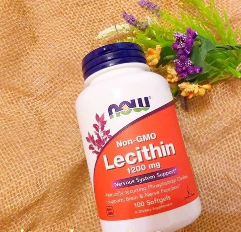 Now Foods лецитин соевый. 1200 мг, 100 капсул