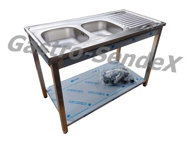Zlew Gastronomiczny 120x60x85 prawy / lewy Stół ze zlewem